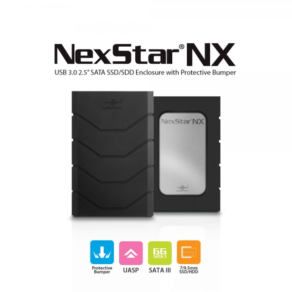 Vantec NexStar NX NST-239S3B-BK 2.5 inch SATA to USB 3.0 Enclosure for 7mm /&